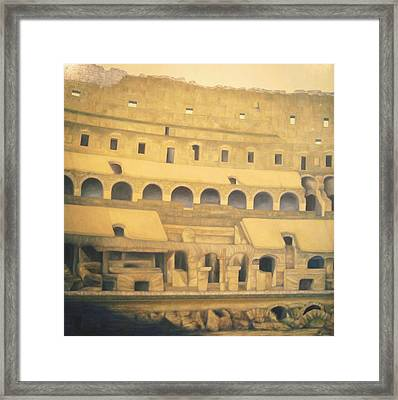 Coliseum Floor Framed Print