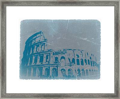 Coliseum Framed Print by Naxart Studio