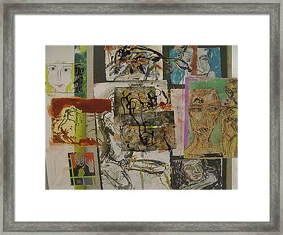 Collage 27 Framed Print by Noredin Morgan