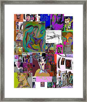Collage 9 Framed Print by Noredin Morgan
