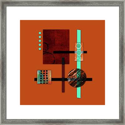 Collage Abstract 10 Framed Print