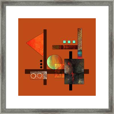 Collage Abstract 9 Framed Print