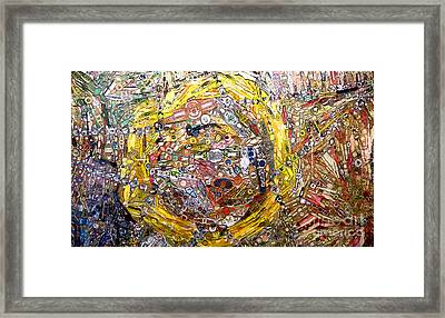 Collage Abstract Framed Print by Mindy Newman