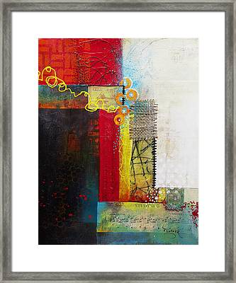 Framed Print featuring the painting Collage Art 1 by Patricia Lintner