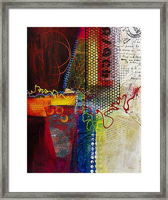 Framed Print featuring the painting Collage Art 2 by Patricia Lintner