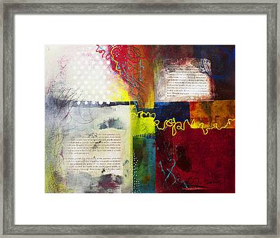 Framed Print featuring the painting Collage Art 3 by Patricia Lintner