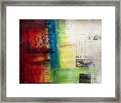 Framed Print featuring the painting Collage Art 4 by Patricia Lintner
