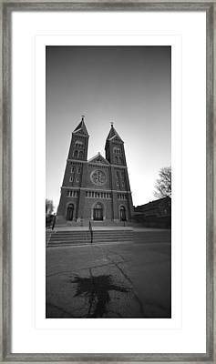 Collage Church Framed Print by Dustin Soph