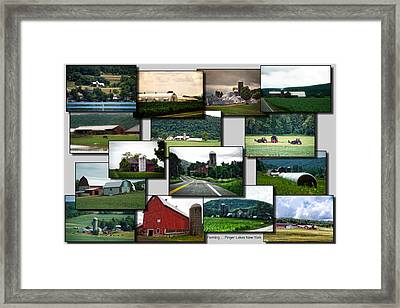 Collage Farming Finger Lakes New York Framed Print by Thomas Woolworth