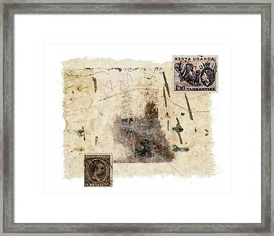 Collage In Shades Of Brown Framed Print