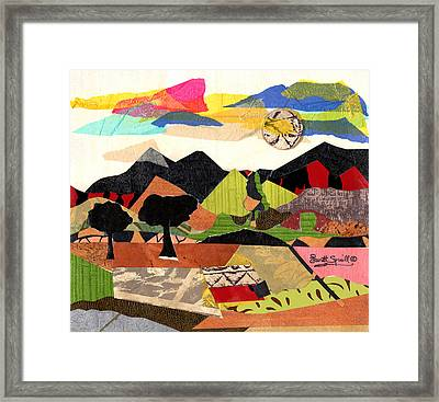 Mountain Landscape Collage  1 Framed Print