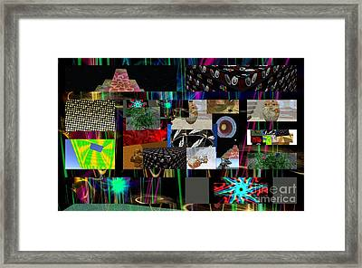 Collage Of Troubled Assets Framed Print by Thomas Smith