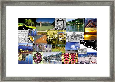 Framed Print featuring the photograph Collage Photography 1999-2009 By Sascha Meyer - Without Border by Sascha Meyer