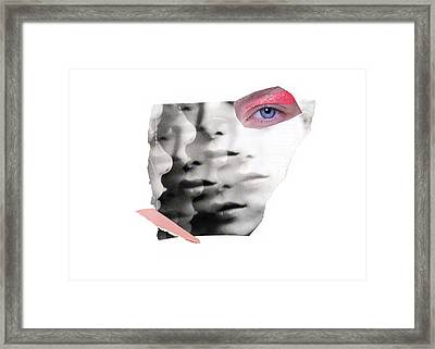 Collage Portrait Framed Print