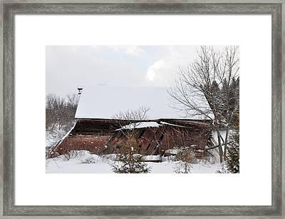 Collapsing Barn Near Saratoga Battlefield Framed Print