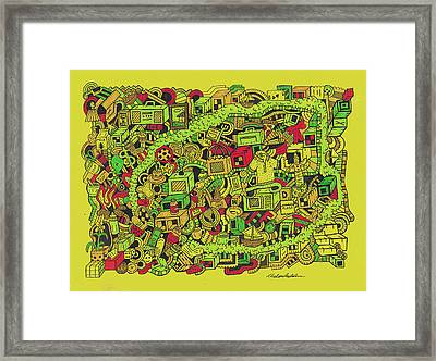 Collar Boy Framed Print