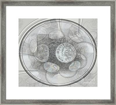 Collectable Global Coins Framed Print