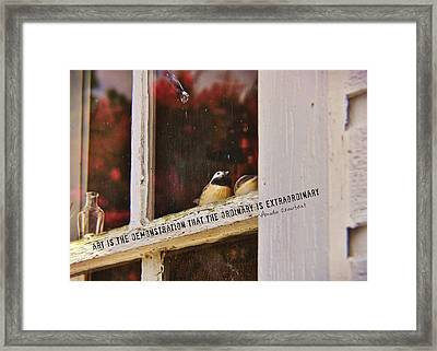 Collectibles Quote Framed Print by JAMART Photography
