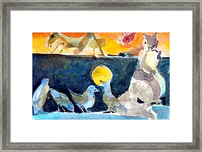 Collection Of Critters Framed Print by Mindy Newman