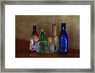 Collection Of Vintage Bottles Photograph Framed Print