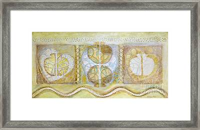 Collective Unconscious Three Equals One Equals Enlightenment Framed Print by Kerryn Madsen- Pietsch