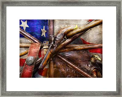 Collector - Guns - How The War Was Won  Framed Print by Mike Savad