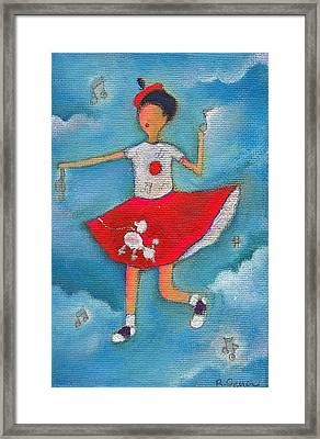 Colleen Dancing In Clouds Framed Print by Ricky Sencion