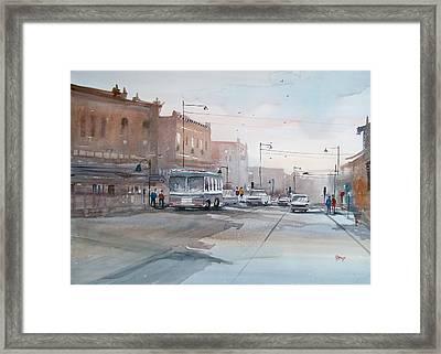 College Avenue - Appleton Framed Print by Ryan Radke