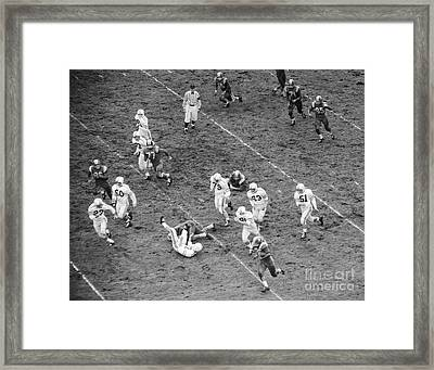 College Football Game From Above Framed Print