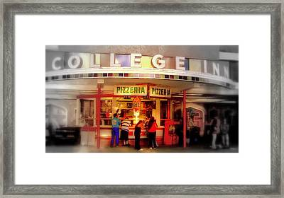 Framed Print featuring the photograph College Inn by Andrew Gillette