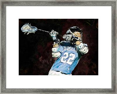 College Lacrosse 12 Framed Print by Scott Melby