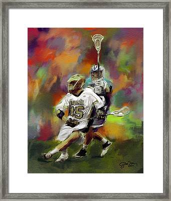 College Lacrosse 13 Framed Print by Scott Melby