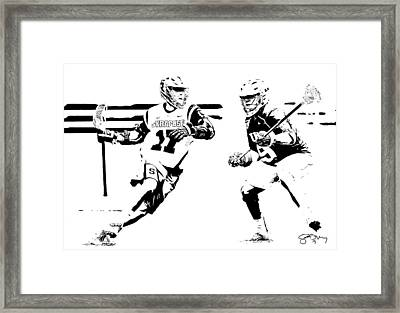 College Lacrosse 22 Framed Print by Scott Melby