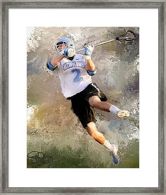 College Lacrosse Shot 2 Framed Print
