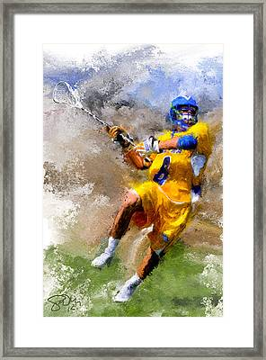 College Lacrosse Shot Framed Print