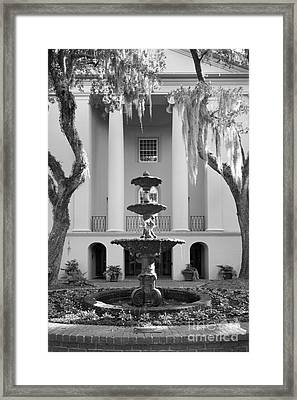 College Of Charleston Fountain Framed Print