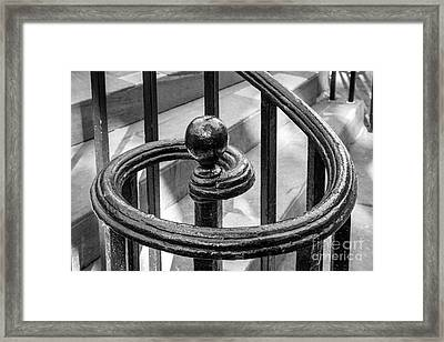 College Of Charleston Stair Detail Framed Print