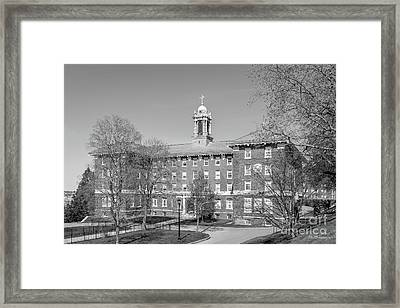 College Of The Holy Cross Alumni Hall Framed Print by University Icons