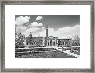 College Of The Holy Cross Kimball Hall Framed Print by University Icons
