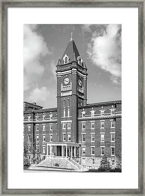 College Of The Holy Cross O' Kane Hall Clock Tower Framed Print by University Icons