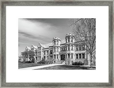 College Of Wooster Holden Hall Framed Print by University Icons