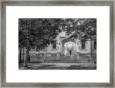 College Of Wooster Kauke Arch Framed Print by University Icons