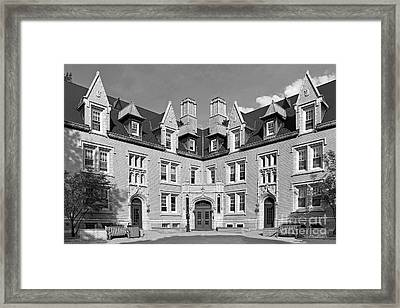 College Of Wooster Kenarden Lodge Framed Print by University Icons