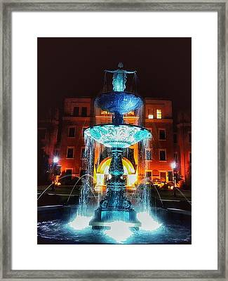College Statue  Framed Print by Dustin Soph