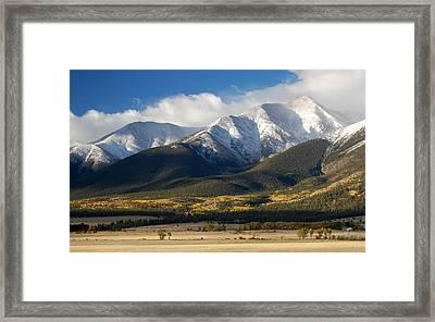 Collegiate Peaks From Buena Vista Colorado Framed Print by Rhonda Van Pelt