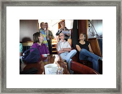 Collegues Framed Print by Johan Van der knokke