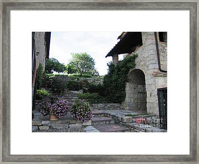 Collelungo Apartments Framed Print by Linda Ryan