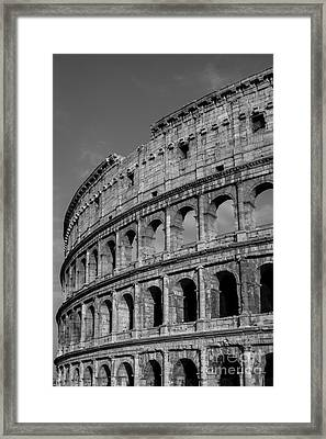 Colleseum Rome Italy Framed Print by Edward Fielding