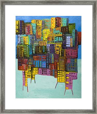 Collide Framed Print by Maria Curcic