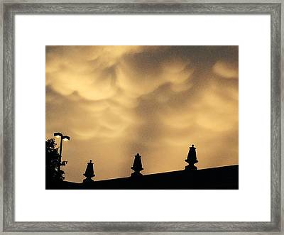 Collides With Beauty Framed Print